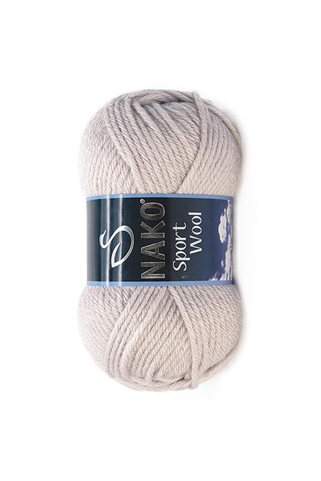 Nako Pembe Gri Sport Wool Kalın El Örgü İpi