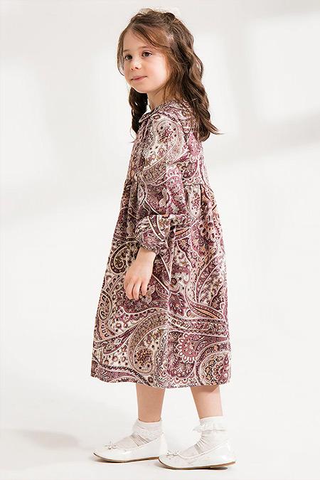 Ceylan Otantik Gül Kurusu Kız Çocuk Otantik Elbise
