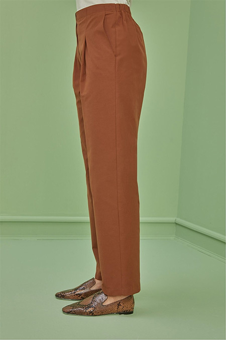 Qanu Taba Mevsimlik Canvas Pantolon
