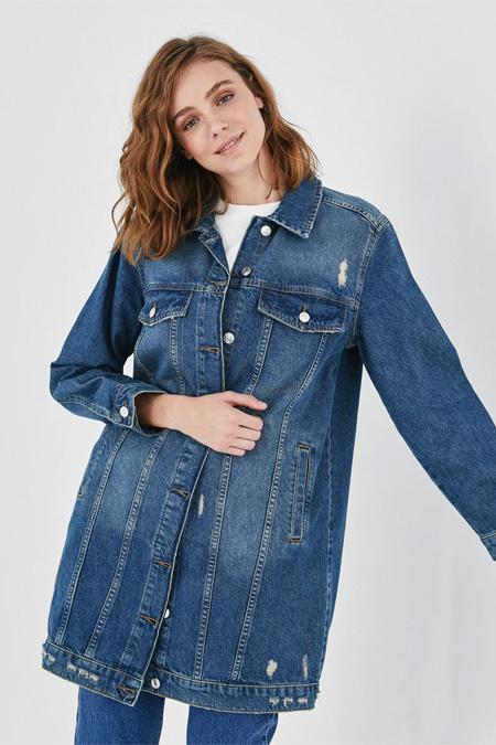 LC Waikiki Cepli Uzun Jean Ceket