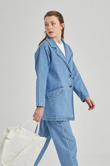 Manuka Mavi Denim Blazer Ceket