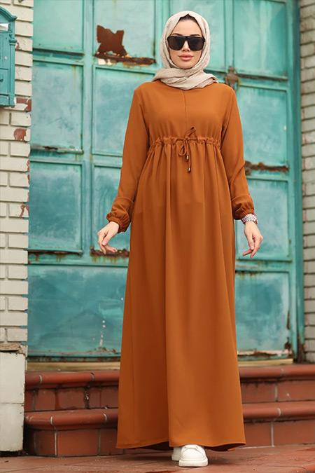Neways Tarçın Beli Bağcıklı Elbise