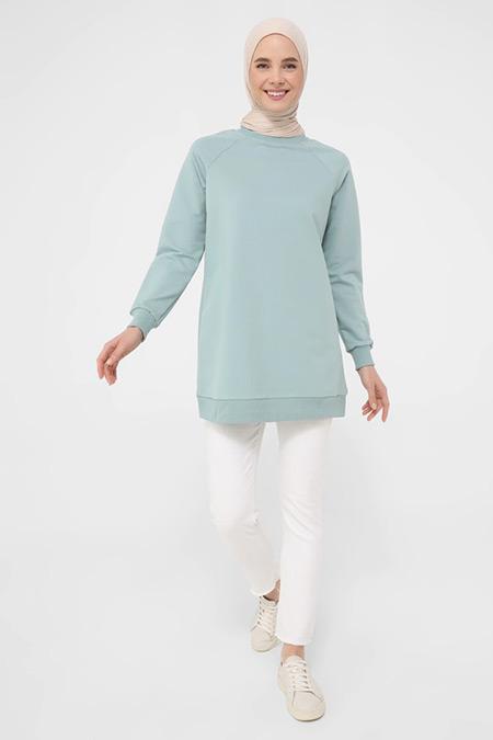 Refka Basic Çağla Basic Sweatshirt