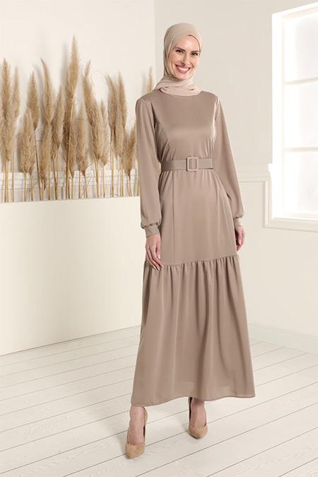 Tavin Vizon Kemerli Elbise