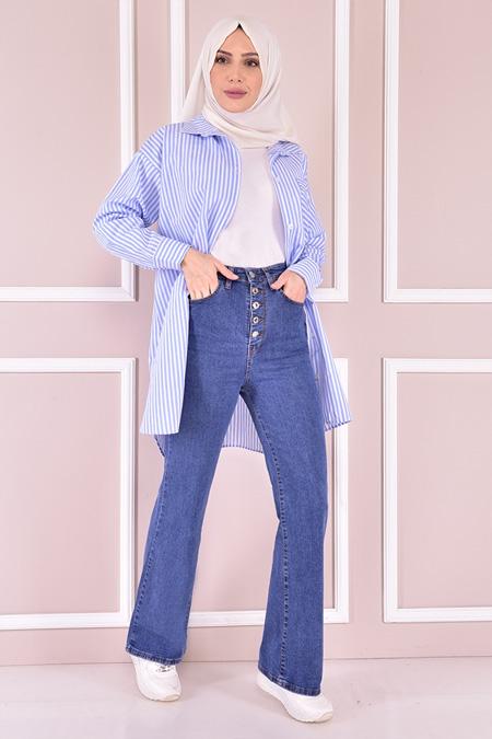 Modamerve Mavi Jean Pantolon