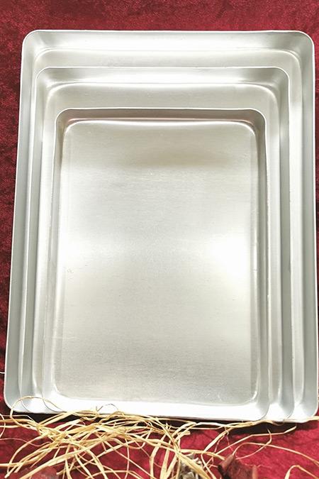 Bakır Sanatı Alüminyum 30 X 40 cm Baklava Börek Tepsisi