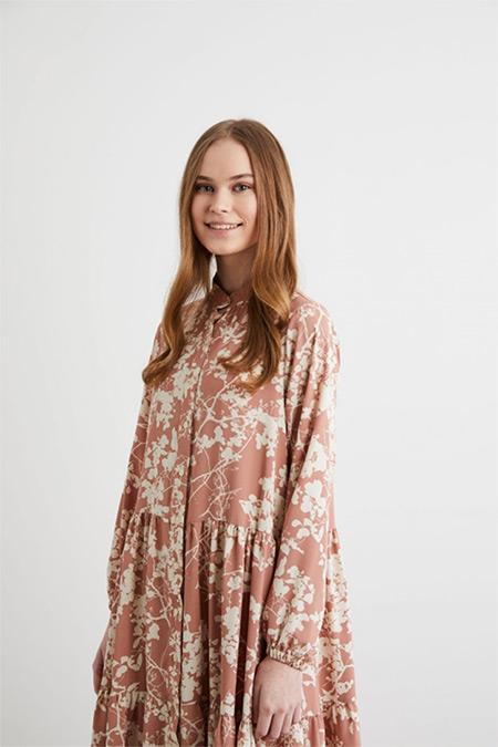 Terzi Dükkanı Pudra Daphne Elbise