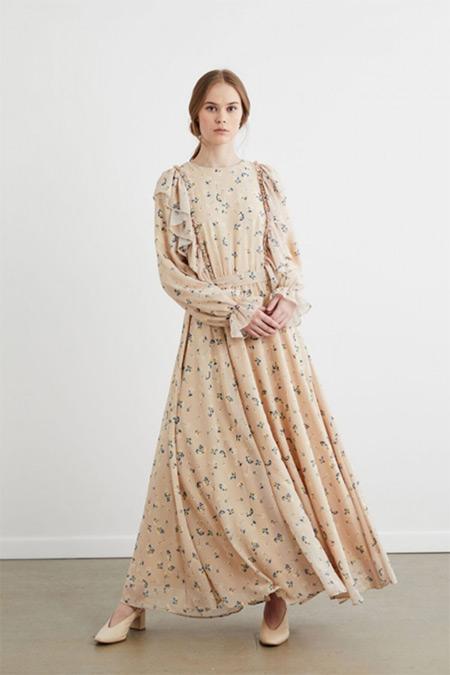 Terzi Dükkanı Vizon Desenli Clara Elbise