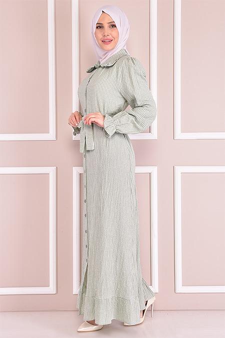 Modamerve Mint Pötikare Elbise