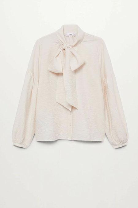 Mango Kadın Kravat Yakalı Bluz