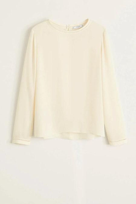 Mango Kadın Kırık Beyaz Bluz