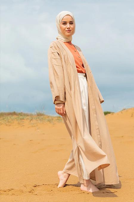 Refka Bej Nervür Detaylı Kimono