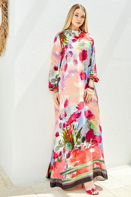 Ayşen Özen Fuşya Garden Elbise