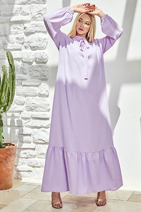 Ayşen Özen Lila Efsun Elbise