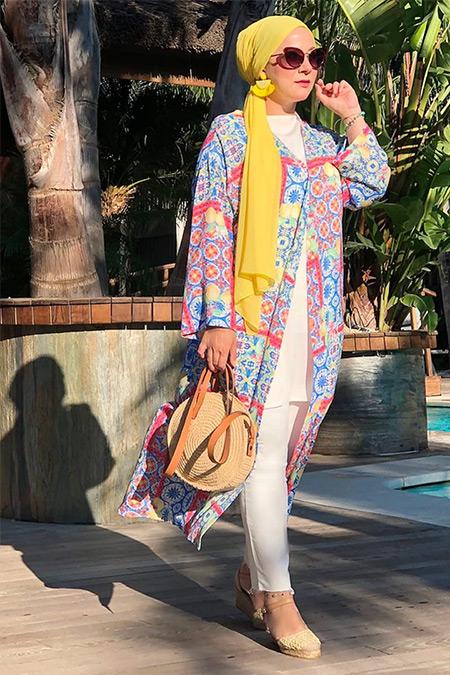 Ayşen Özen Mavi Limon Kimono