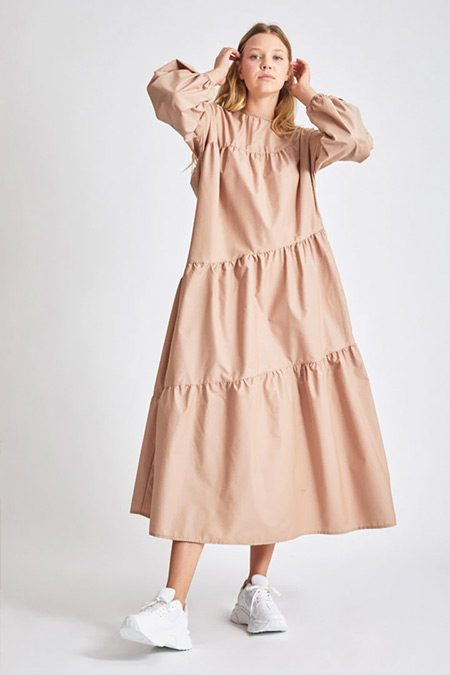 Modaamira Camel Salaş Elbise