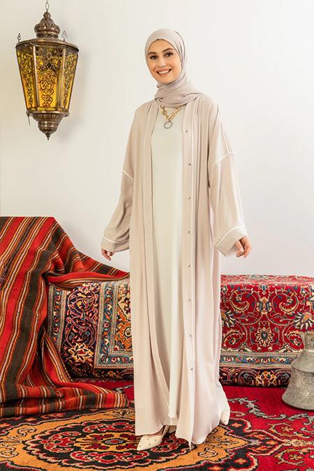Nuum Design Nude Biyeli Abaya