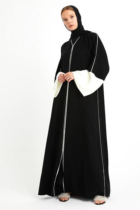 Nuum Design Siyah Garnili Ferace