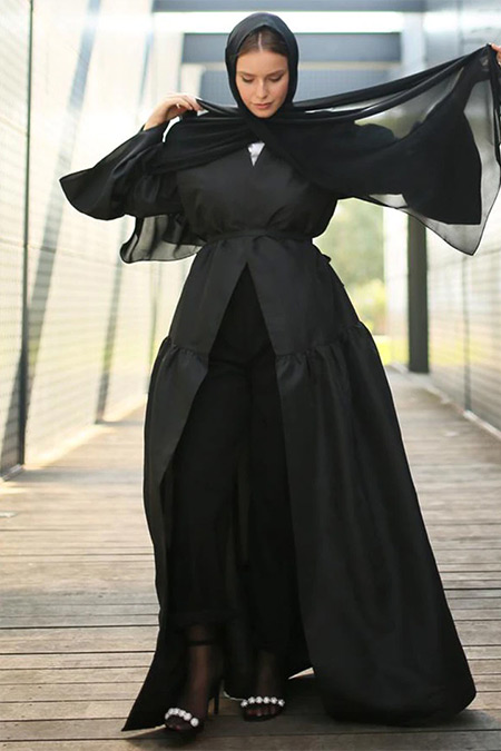 Nuum Design Siyah Tafta Kaftan