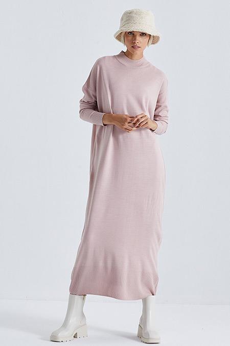 Terzi Dükkanı Pudra Triko Elbise